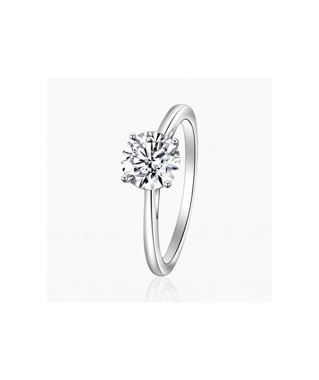 Bague Solitaire Sarah Diamant Or Blanc |Djoline Joailliers