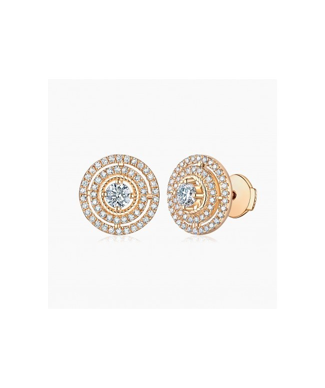 Boucles d'oreilles  Illusion Or Rose 18K diamants | Djoline