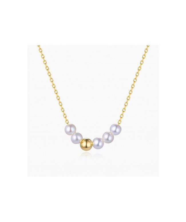 Collier Athénée Or Jaune 18k Perles | Djoline
