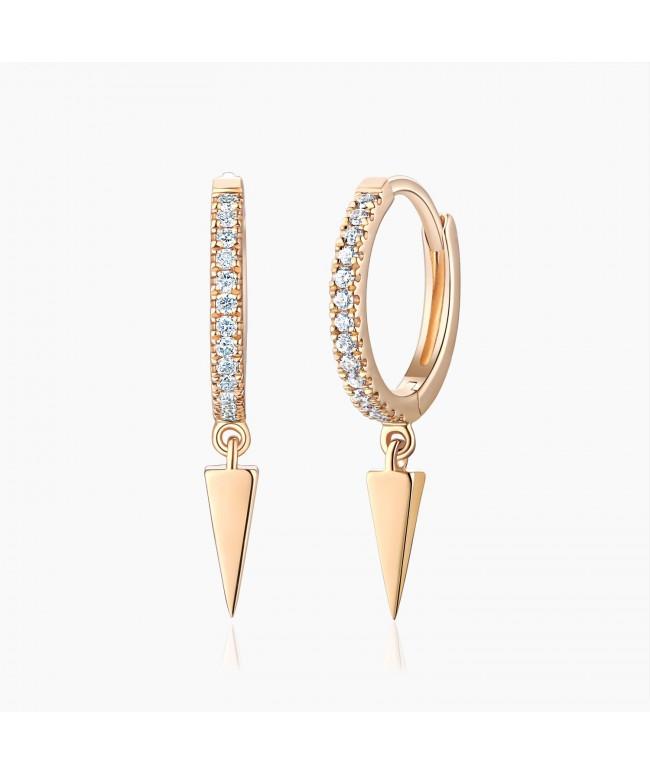 Boucles d'oreilles Mini Créoles Inaya Or diamant | Djoline