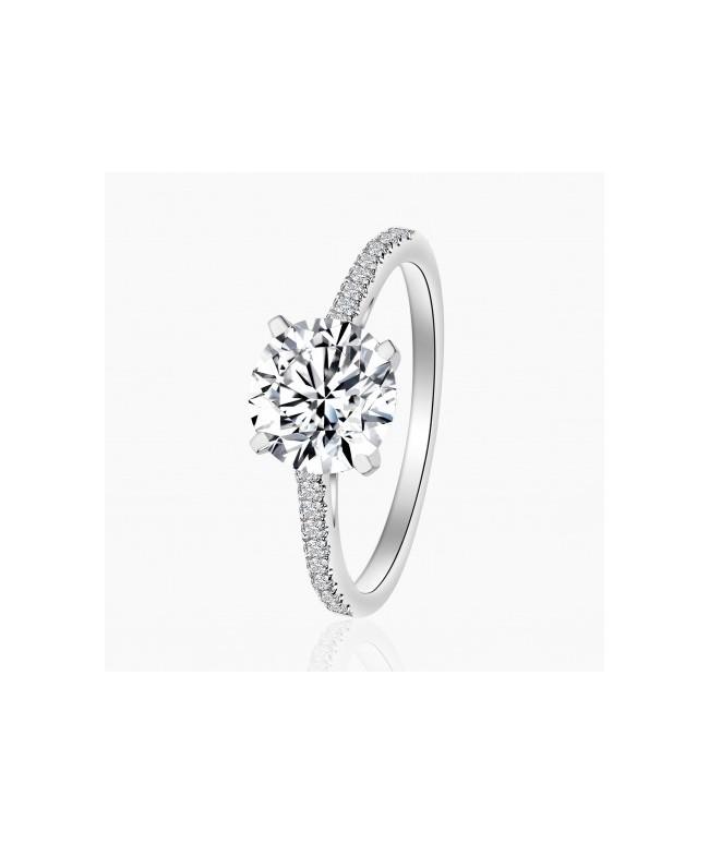 Bague Solitaire Bea Diamant Or Blanc | Djoline Joailliers