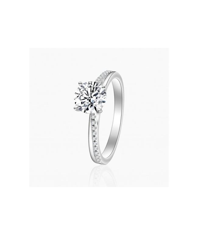 Bague Solitaire Inès diamants Or Blanc | Djoline Joailliers