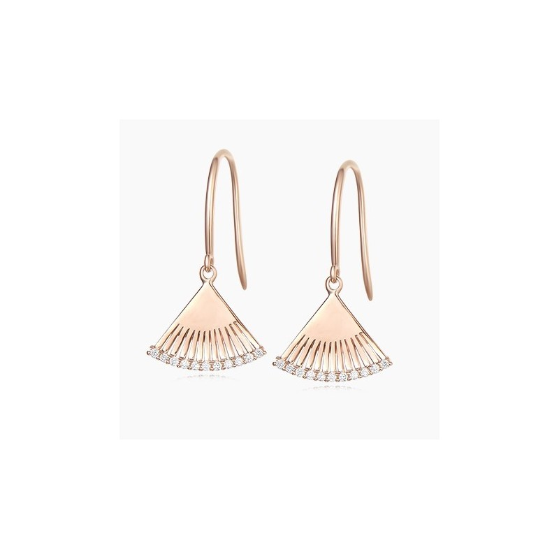 Boucles d'oreilles Garden Or Rose 18K diamants | Djoline