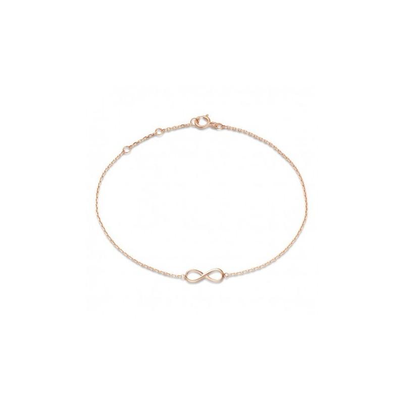 Bracelet Infinity Or Rose 18K | Djoline