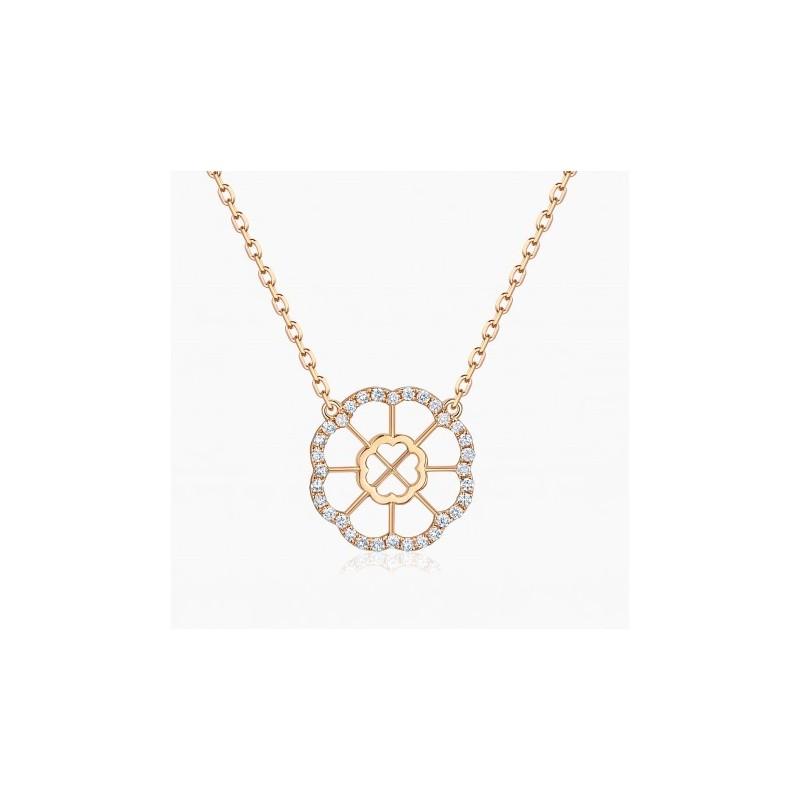 Collier Mon Amour Or Rose 18K diamants | Djoline