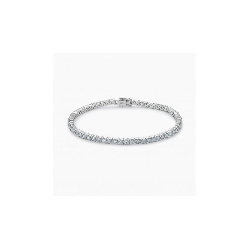 Bracelet  diamants Eternity Or Blanc 18K | Djoline