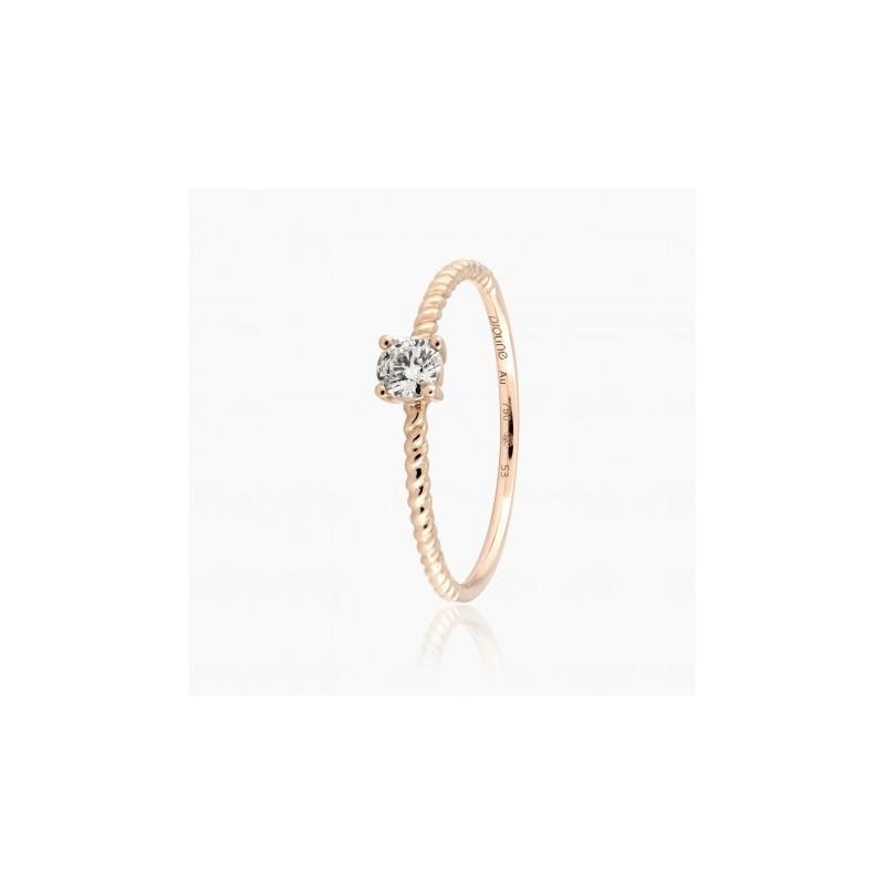 Bague Solitaire Jess diamants Or Rose | Djoline Joailliers