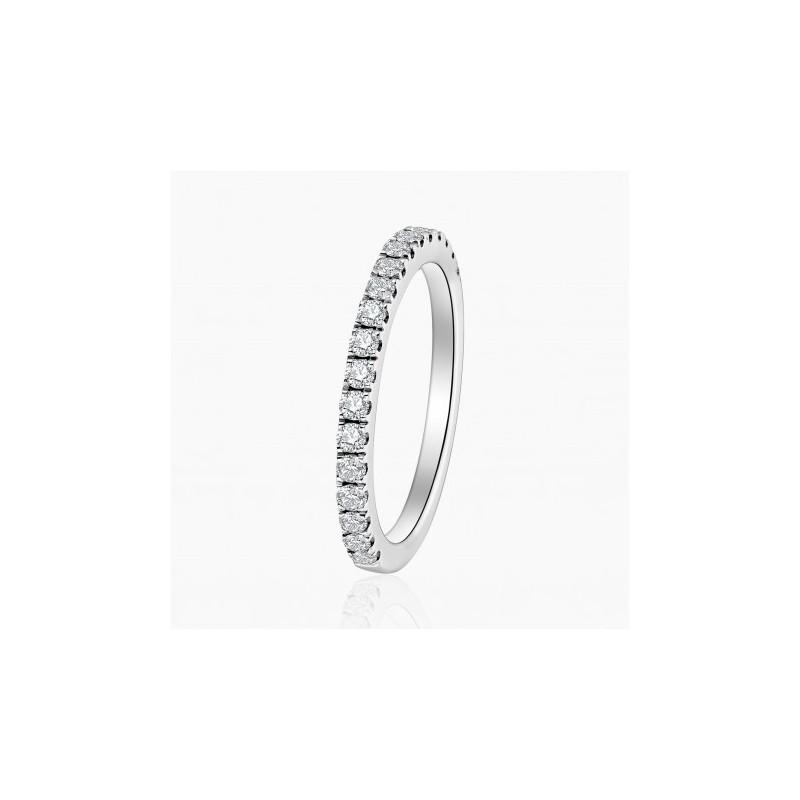 Alliance Femme diamant Mélanie Or Blanc | Djoline