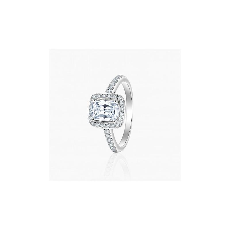 Bague Solitaire Jill diamants Or Blanc | Djoline Joailliers
