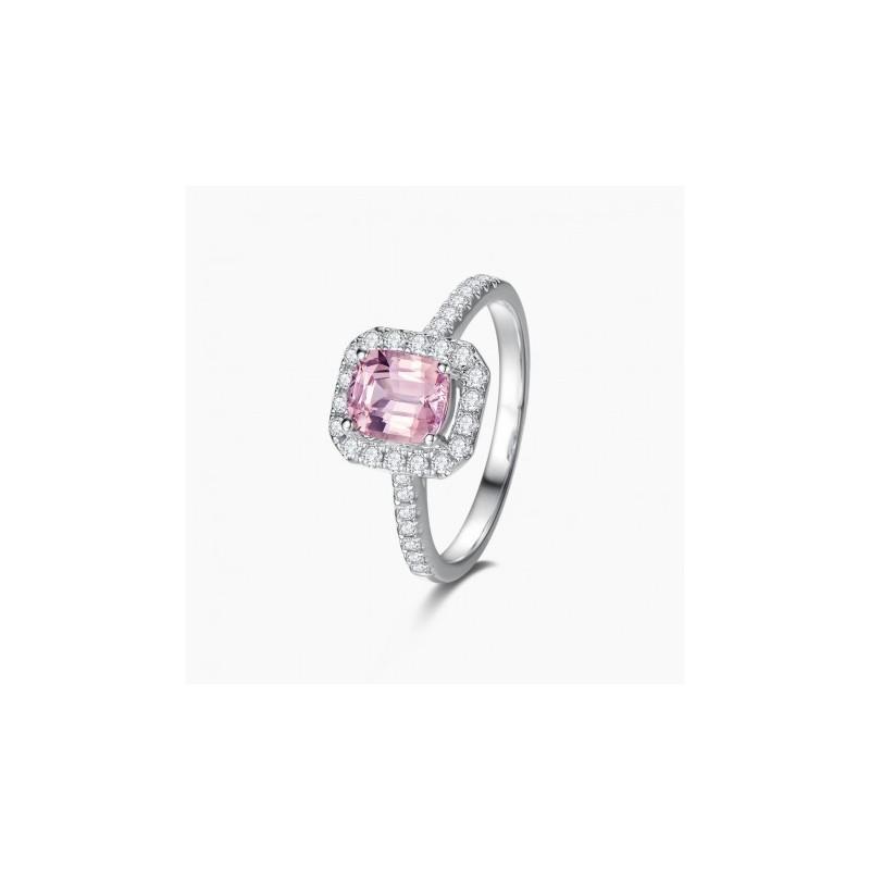 Bague de Fiançailles Soline Saphir Or diamant | Djoline