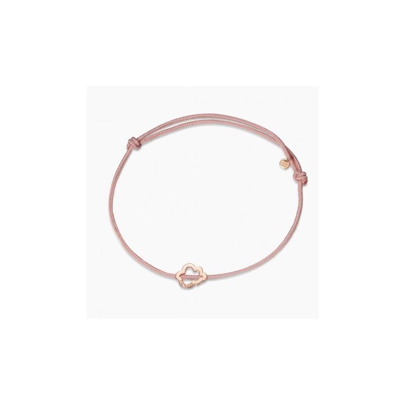 Bracelet Nid de Coton Or Rose 18K 1 diamant   Djoline