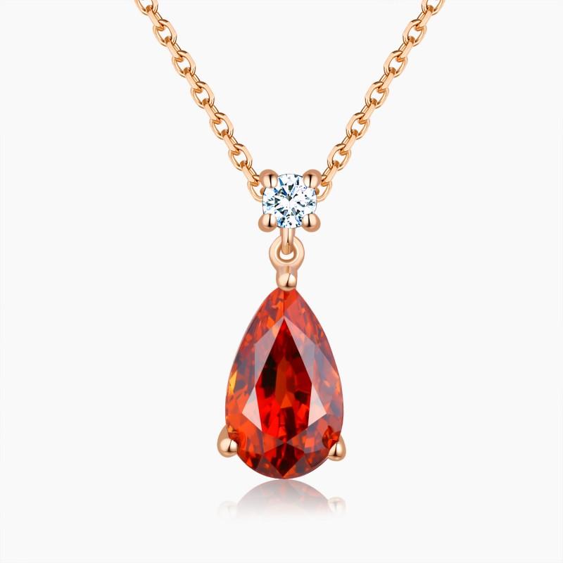 Collier Passion Or Grenat Diamants | Djoline