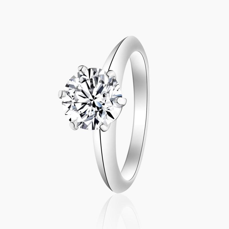 Bague Solitaire Nina diamant Or Blanc | Djoline Joailliers