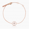 Bracelet  chaine Mon Amour Or Rose 18K Plein Or | Djoline