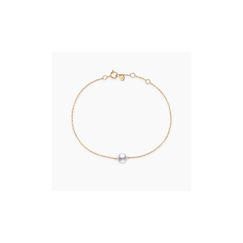 Bracelet Akoya Or Rose 18K Perle Akoya | Djoline