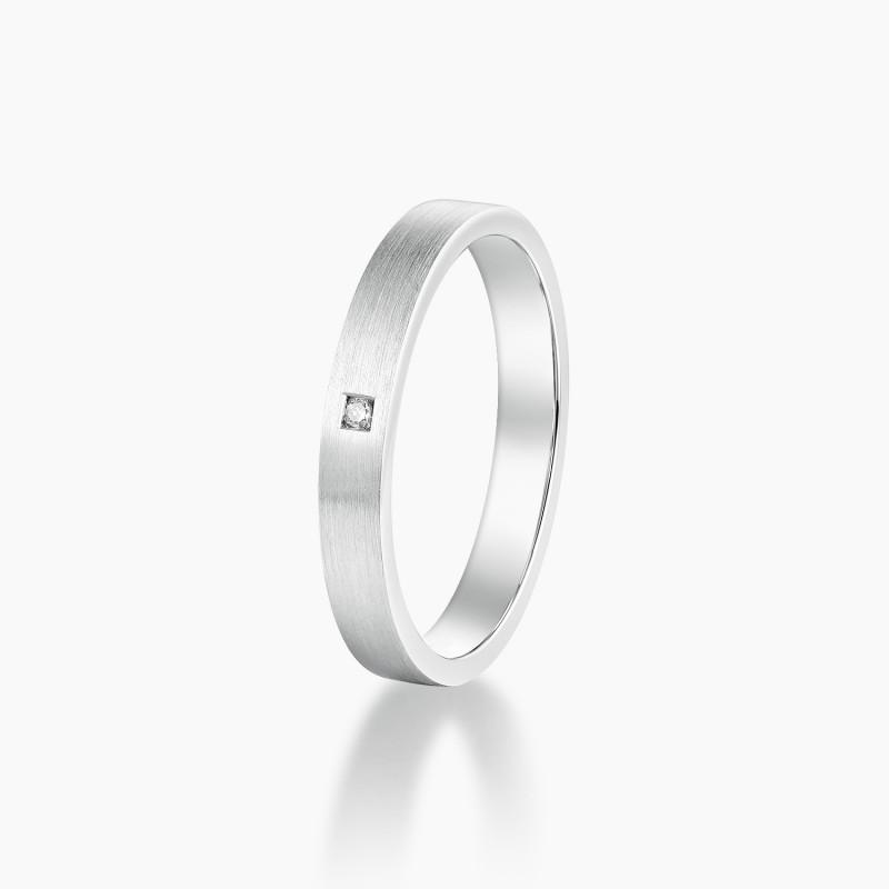 Alliance Homme Gabin Or Blanc diamant | Djoline Joailliers