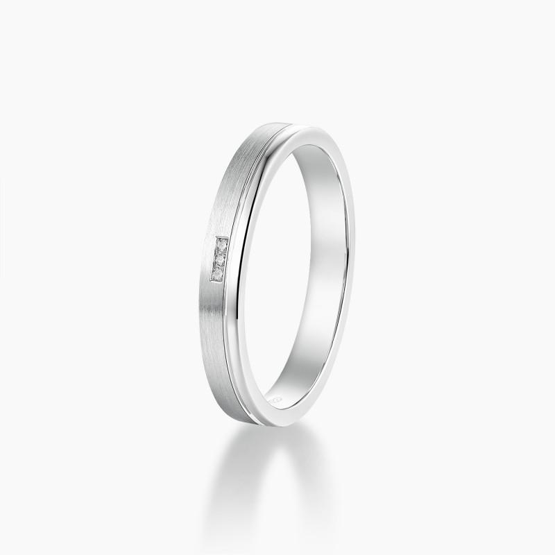 Alliance Homme Hugo Or Blanc diamants | Djoline Joailliers