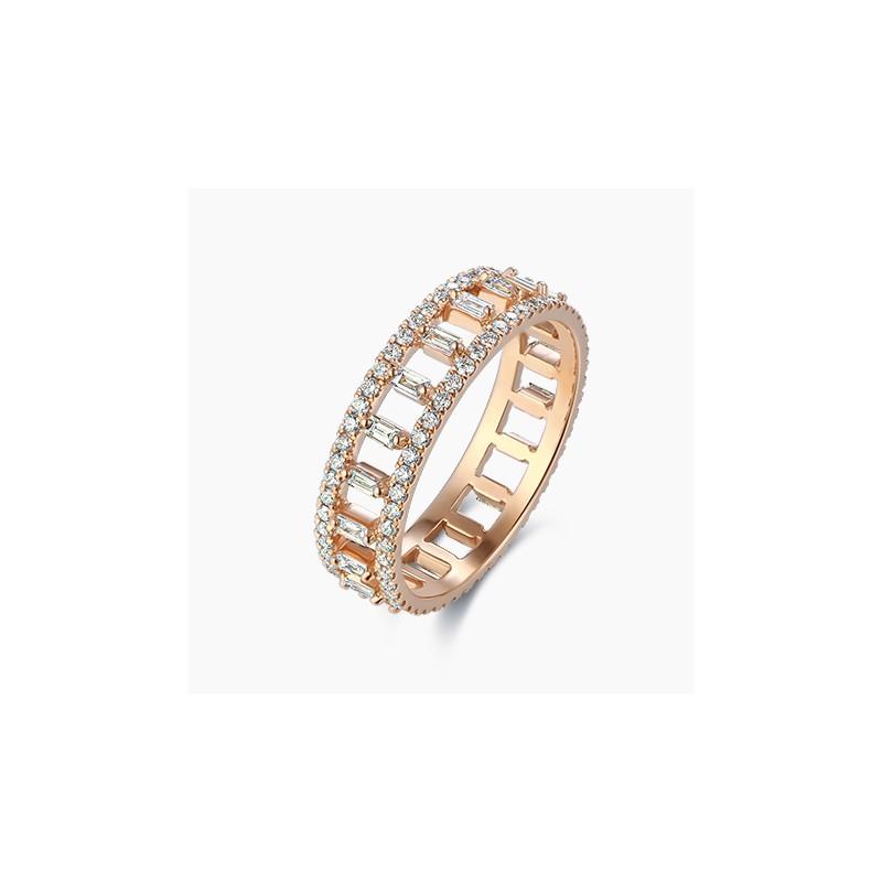Alliance Femme diamant Louane Or Rose | Djoline Joailliers