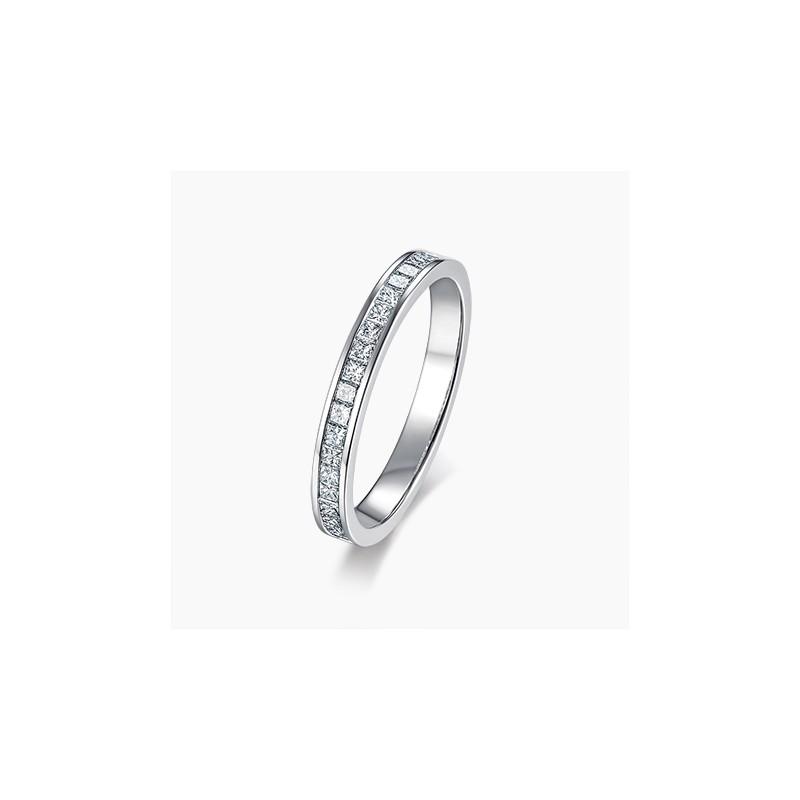 Alliance Femme diamant Diana Or Blanc | Djoline Joailliers