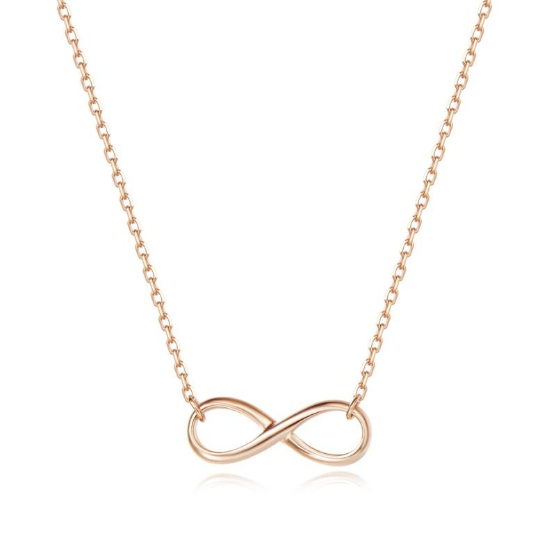 Collier Infinity Or Rose 18K | Djoline