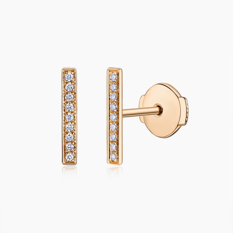 Boucles d'oreilles Margot Or  rose 18K diamants | Djoline