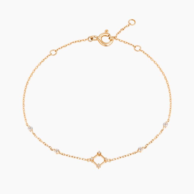 Bracelet chaine La Parisienne Or Rose 18K diamants | Djoline