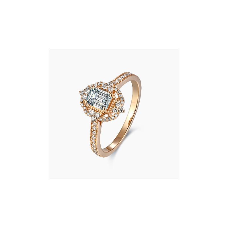 Bague Solitaire Sofia diamants Or Rose | Djoline Joailliers