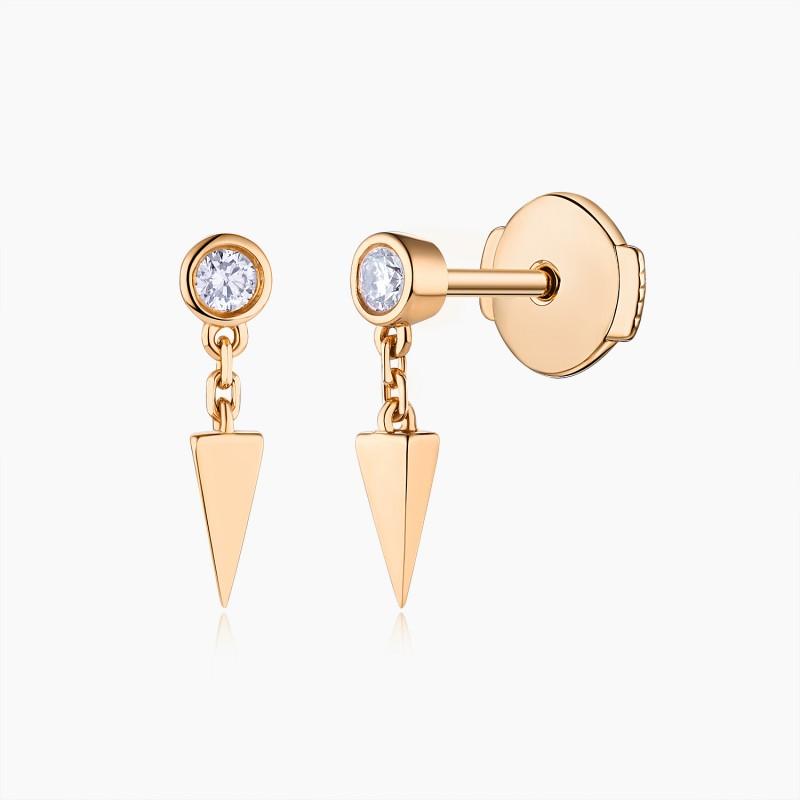Boucles d'oreilles Romy Or 18K diamants | Djoline