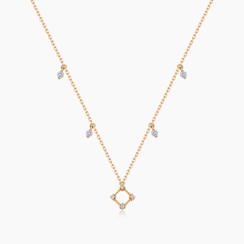 Collier La Parisienne Or Rose 18K diamants | Djoline