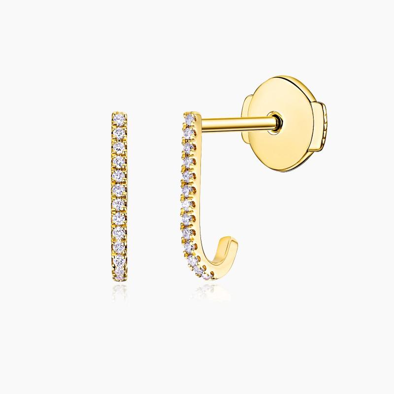 Boucles d'oreilles Joelle Or jaune 18K diamants Djoline