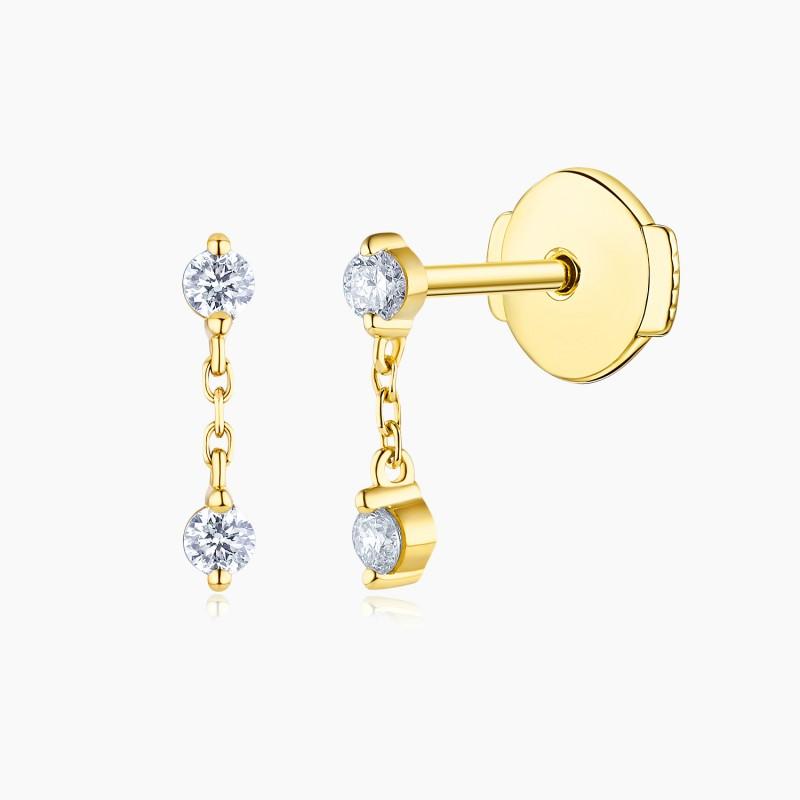 Boucles d'oreilles Alya Or rose 18K diamants | Djoline