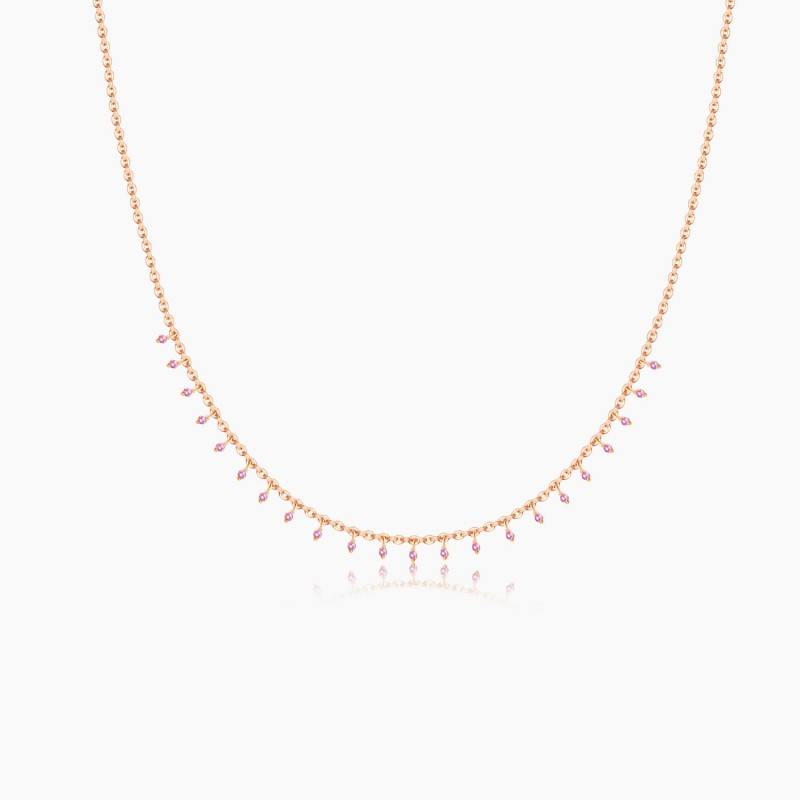 Collier Constellation Or Rose 18K diamants | Djoline