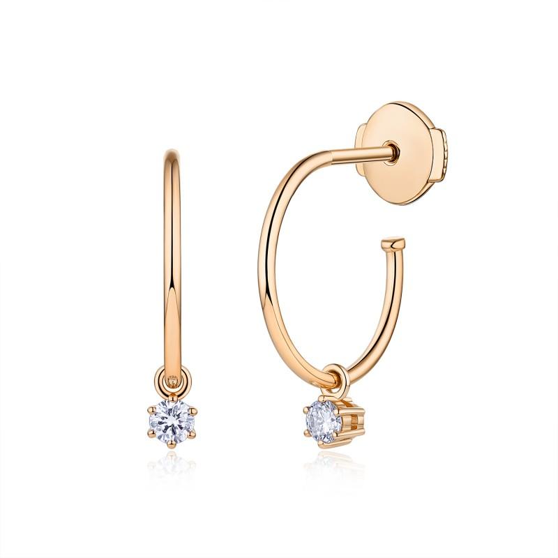 Boucles d'oreilles Faustine Or 18K diamants | Djoline