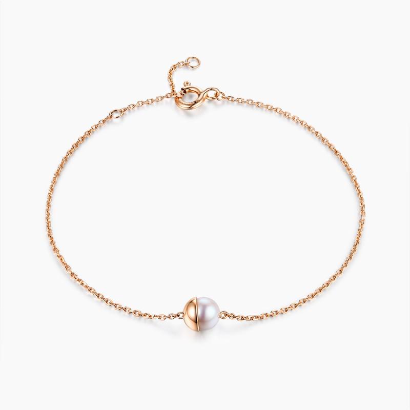 Bracelet Venus Or Rose 18K Perle Akoya   Djoline