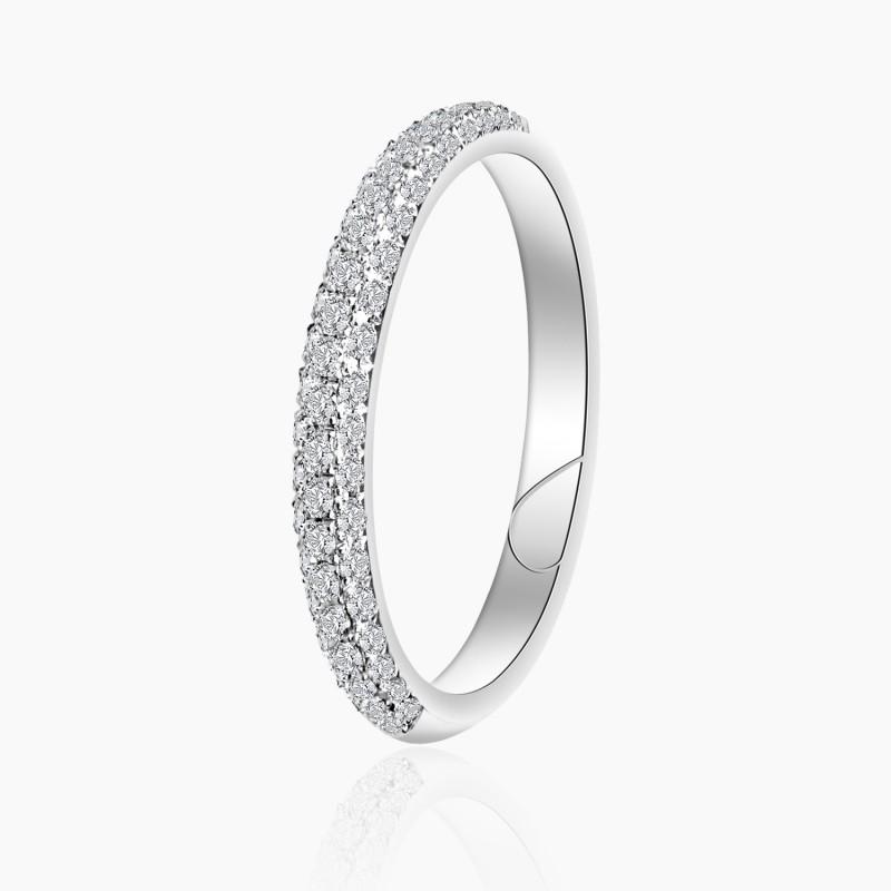 Alliance Femme diamant Alix Or Blanc   Djoline Joailliers
