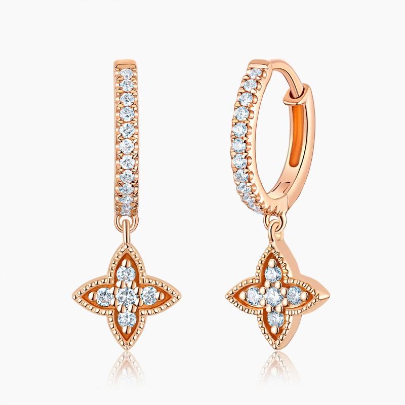 Mini créoles Jodie Or 18K diamants | Djoline Joailliers