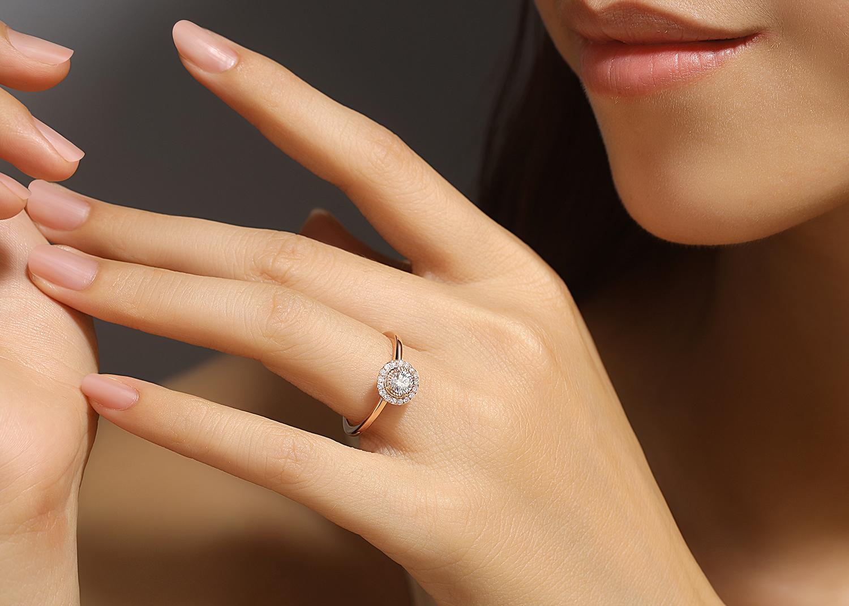 Bague Illusion or diamants