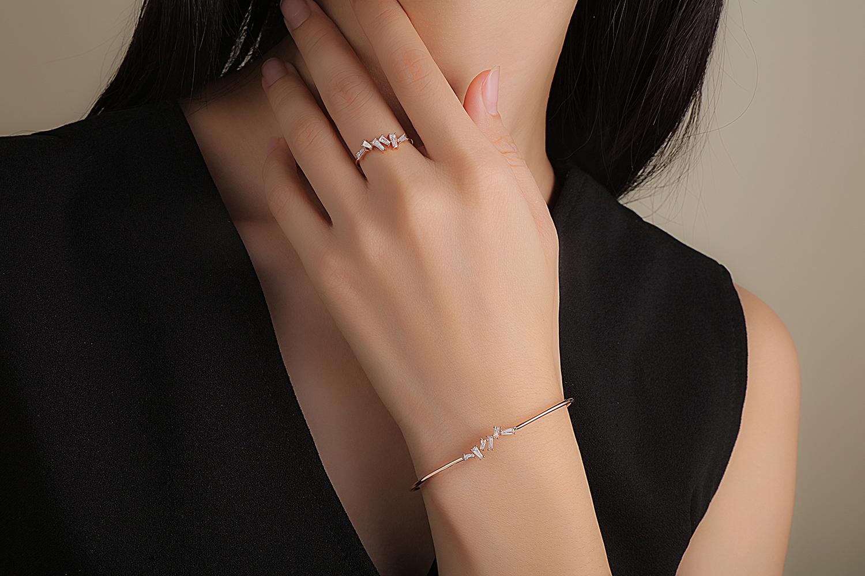 Collier or rose diamants HONEY CUBE