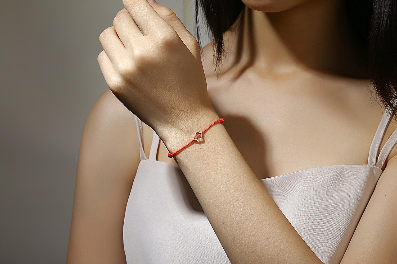 Bracelet cordon or diamants
