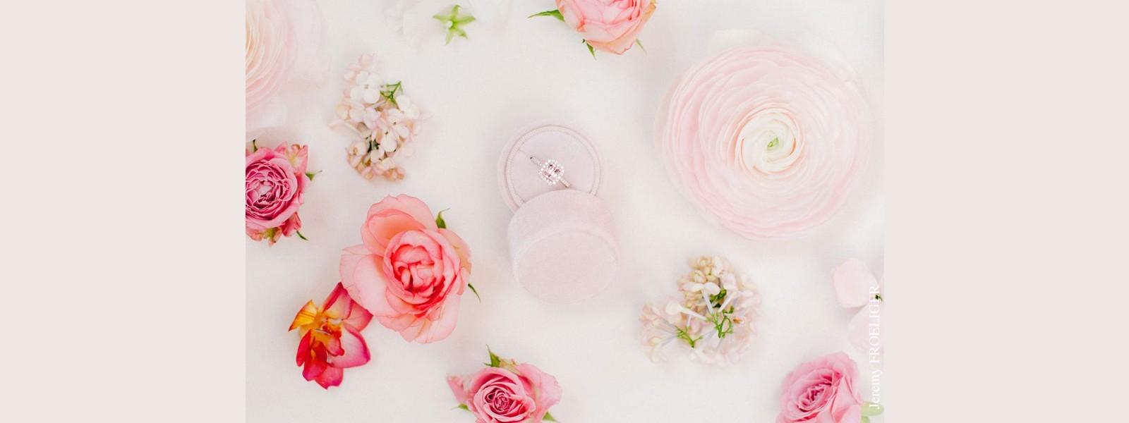 Solitaire saphir rose